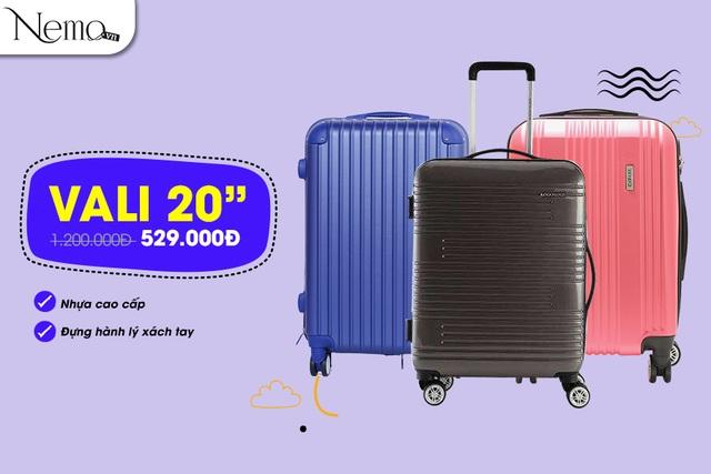 Vali 20 inch từ các thương hiệu Lock & Lock và Cavani giá chỉ 529.000 đồng