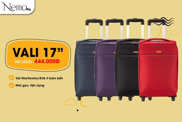 Vali vải nhỏ gọn tiện dụng, thích hợp với hành lý xách tay