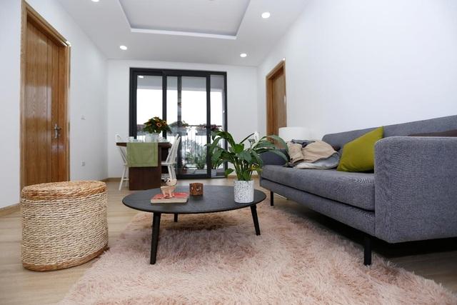 Phòng khách hiện đại và tràn ngập ánh sáng tự nhiên