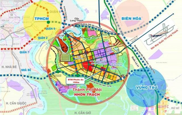 Bản đồ quy hoạch đất Nhơn Trạch.