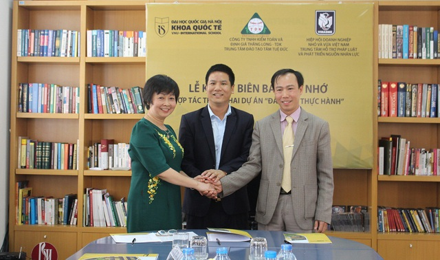 Khoa Quốc tế - Đại học Quốc gia Hà Nội đã ký kết thoả thuận hợp tác về đào tạo thực hành cho sinh viên ngành Kế toán, Phân tích và Kiểm toán với các doanh nghiệp.