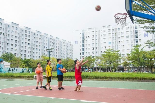 Không gian xanh và các tiện ích cộng đồng như thế này thường bị các chủ đầu tư bỏ qua để tăng lợi nhuận.
