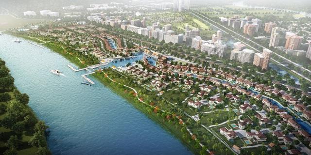 Khu đô thị sông nước 355ha Waterpoint-Long An của chủ đầu tư Nam Long vừa khởi công tháng 6 năm nay.