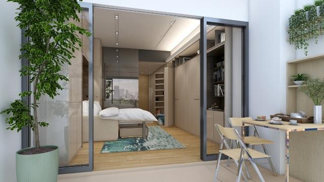 Tính đến nay, căn hộ biến hình của Alpha Hill là đầu tiên và duy nhất tại Việt Nam