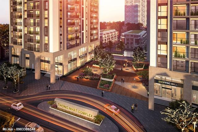 Thống Nhất Complex là dự án hiếm hoi ở khu vực Thanh Xuân có diện tích lớn cho gia đình nhiều thế hệ bàn giao vào cuối năm nay.