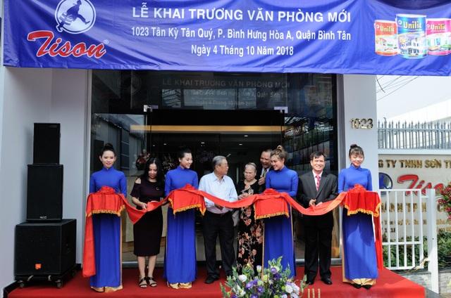 Khai trương văn phòng mới Sơn Tison niềm tin của mọi công trình - 1