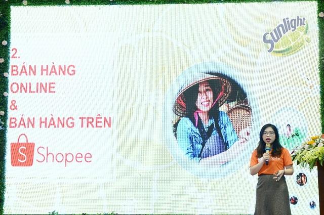 Chị Nguyễn Lê Ly Na, Quản Trị Cộng Đồng Người Bán Hàng Shopee chia sẻ về cách thức bán hàng online