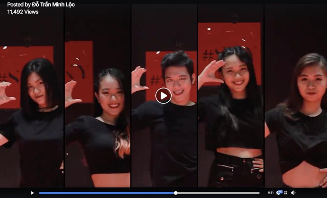Nhóm của Đỗ Trần Minh Lộc đầy thần thái với điệu nhảy của Clear. Clip chia sẻ thu hút hơn 11.000 lượt xem