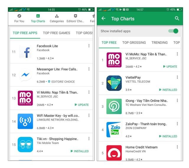 Ví điện tử Việt  thăng hạng thần tốc trên Google Play - 2