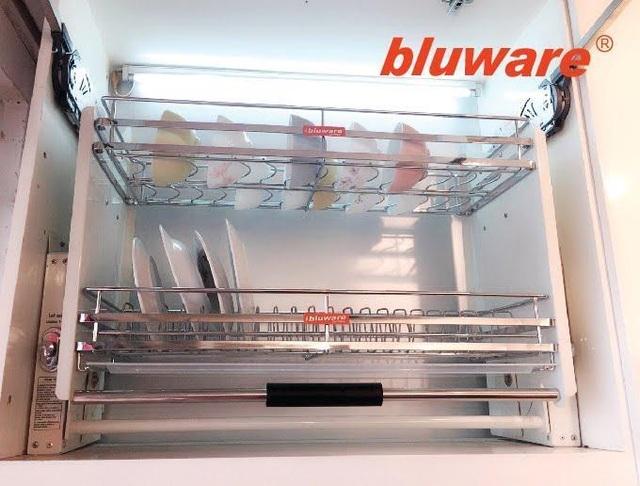 Phụ kiện tủ bếp-Giá bát nâng hạ di động NH7103 linh kiện nhập khẩu từ Đức