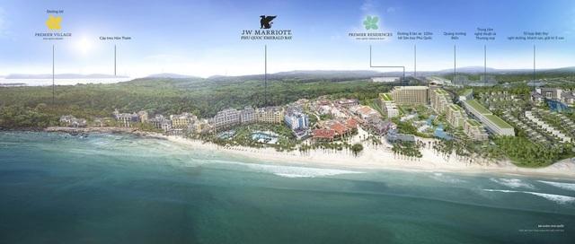 Nam Phú Quốc đang sở hữu quần thể du lịch nghỉ dưỡng tỷ đô với những cái tên nổi tiếng như JW Marott, Accor Hotel, Sun World…