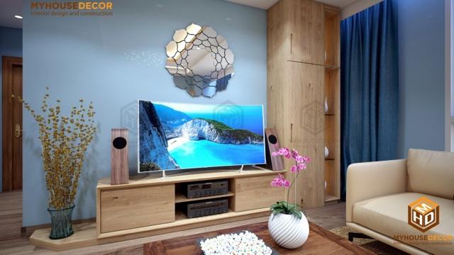 Một góc phòng khách với dòng gỗ Sồi châu Âu