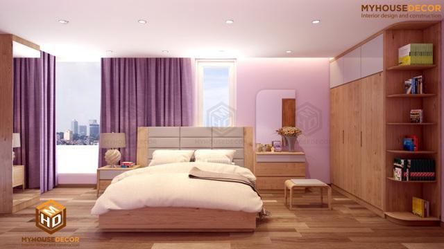Phòng ngủ đơn giản mà sang trọng với gỗ Sồi châu Âu