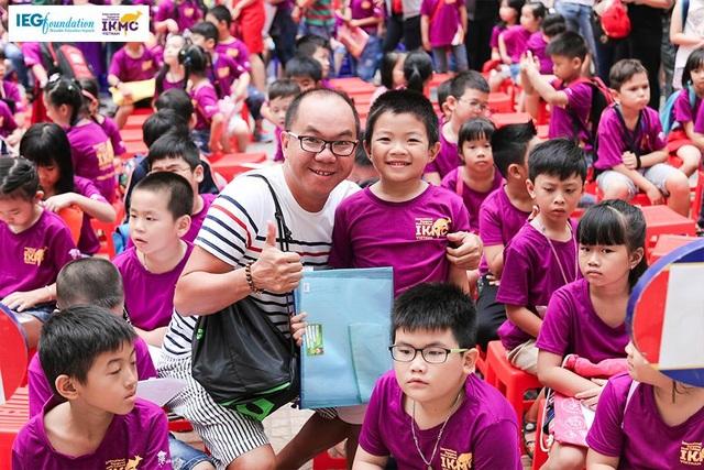 Cha mẹ là điểm tựa để các con hoàn thành tốt bài thi của IKMC