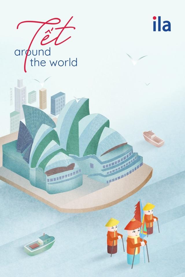 """""""Tết Around The World"""" - dự án nghệ thuật sáng tạo ngày Tết của ILA - Ảnh 4."""