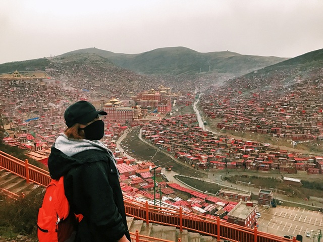 Thanh Phương trong chuyến đi đến Sắc Đạt.