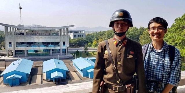 Bức ảnh chụp tại khu phi quân sự DMZ.