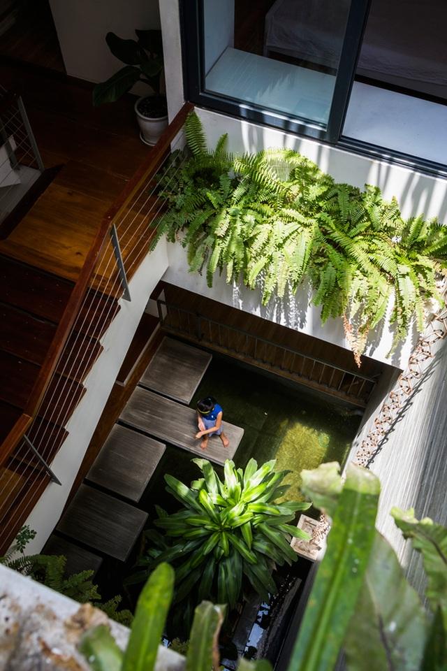 Chủ nhân của ngôi biệt thự trồng rất nhiều các loại cây không chỉ mang tính thẩm mĩ mà còn làm mát cho nơi ở.
