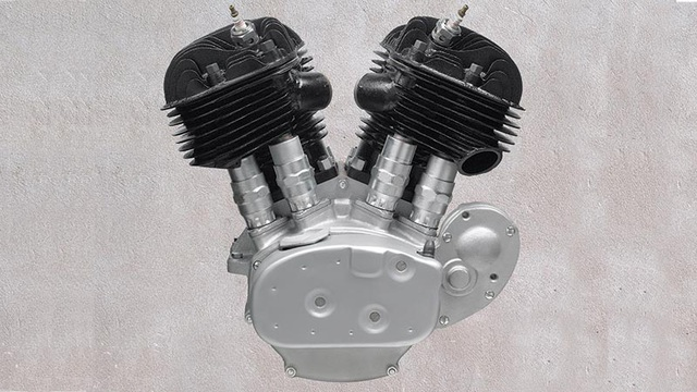 """Đây là dòng động cơ """"tí hon"""" của Harley-Davidson khi chỉ có dung tích 650cc, nhưng có sức sống mãnh liệt đến mức vào năm 1973, các mẫu HD vẫn được trang bị động cơ này. Dòng Flathead vẫn sử dụng hệ thống làm mát bằng gió."""