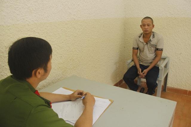 Đối tượng Trịnh Văn Thành tại cơ quan công an