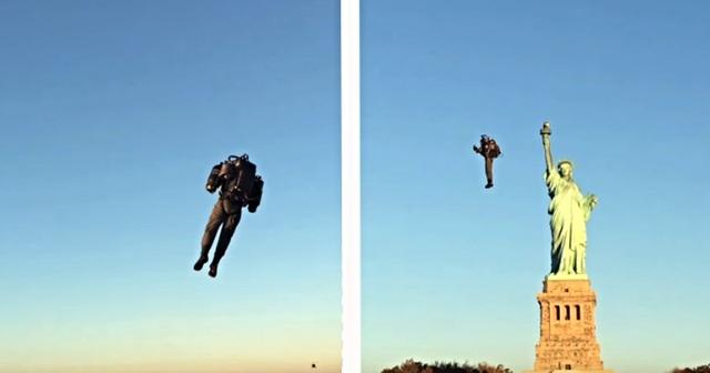 Người bay cất cánh ngoạn mục thăm Nữ thần Tự do - 2