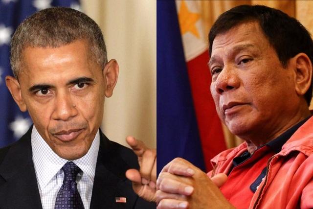 Tổng thổng Mỹ Barack Obama và người đồng cấp Philippines Rodrigo Duterte (Ảnh: abc.net.au)
