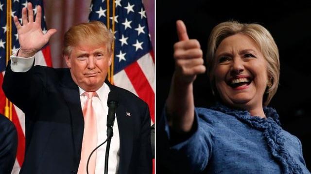Donald Trump và Hillary Clinton (Ảnh: BBC)