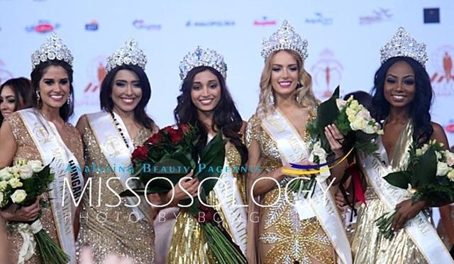 Top 5 của cuộc thi Hoa hậu siêu quốc gia 2016 chụp ảnh sau đêm chung kết.