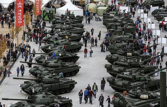 Một triển lãm vũ khí của Nga. (Ảnh: TASS)