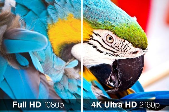 TV 4K Ultra HD cho độ nét gấp 4 lần so với Full HD. (Ảnh minh họa: TVZeal)