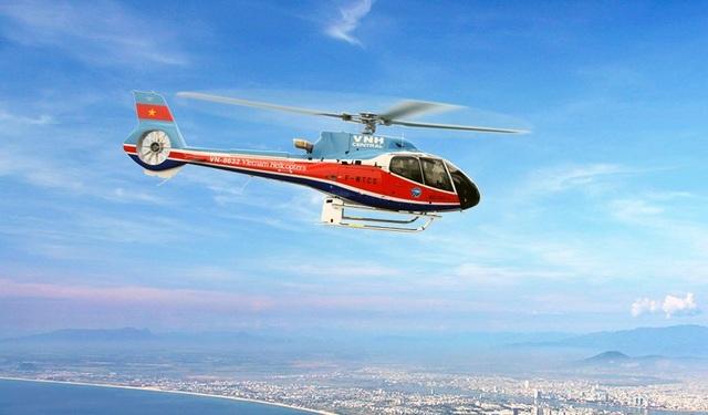 Hình ảnh một chiếc EC130 T2 trên trang web của Tổng công ty trực thăng Việt Nam.