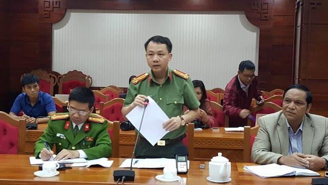 Thượng tá Bùi Trọng Tuấn thông tin chính thức: Có 3 chiến sĩ tử vong trong vụ nổ.