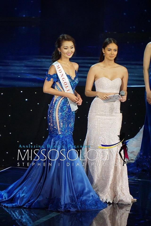 Hoa hậu Mông Cổ sở hữu tới hai giải phụ tại cuộc thi Hoa hậu Thế giới năm 2016 gồm Hoa hậu được khán giả bình chọn nhiều nhất và Hoa hậu Tài năng. Cô dừng chân ở Top 20 cuộc thi năm nay.