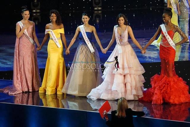5 thí sinh đẹp nhất cuộc thi Hoa hậu Thế giới 2016 gồm Kenya, Indonesia, Cộng hòa Dominica, Puerto Rico và Philippines.