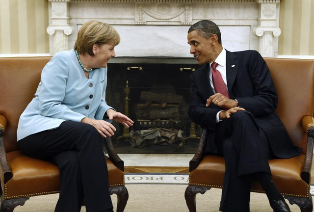 Lãnh đạo Mỹ, Đức hội đàm tại Nhà Trắng tháng 6/2011. (Ảnh: Reuters)