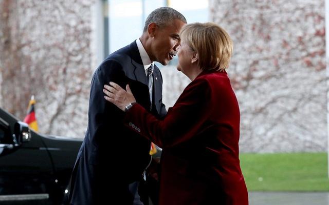Trước đó, bà Merkel đã chào đón ông Obama tới dinh thủ tướng Đức tại thủ đô Berlin để hội đàm. (Ảnh: Reuters)