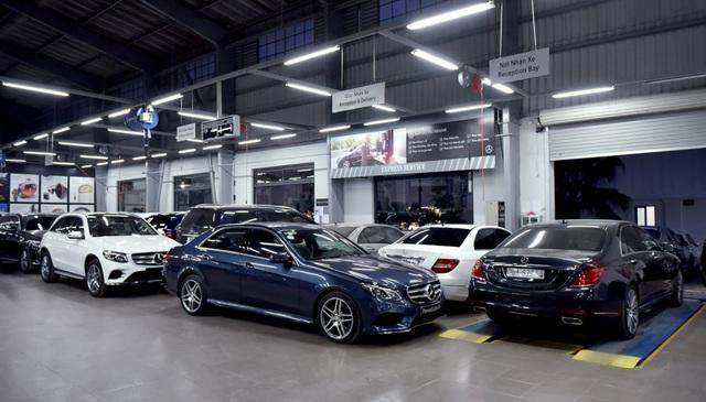 Xưởng dịch vụ rộng 1.000 m2 với khả năng bảo dưỡng và cung ưng dịch vụ cho 50 xe mỗi ngày