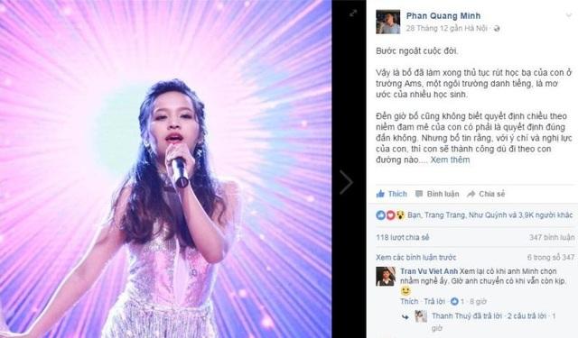 Bức thư của anh Phan Quang Minh gửi con gây xôn xao trên mạng xã hội