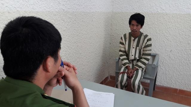 Đối tượng Phạm Minh Nhật tại cơ quan công an