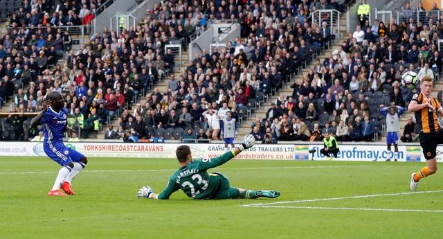 Kante bỏ lỡ cơ hội ghi bàn ngon ăn ở phút 58