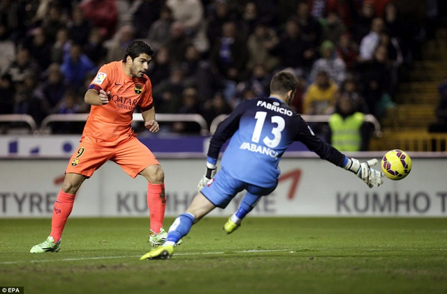 Luis Suarez vẫn là niềm hy vọng hàng đầu trên hàng công của Deportivo