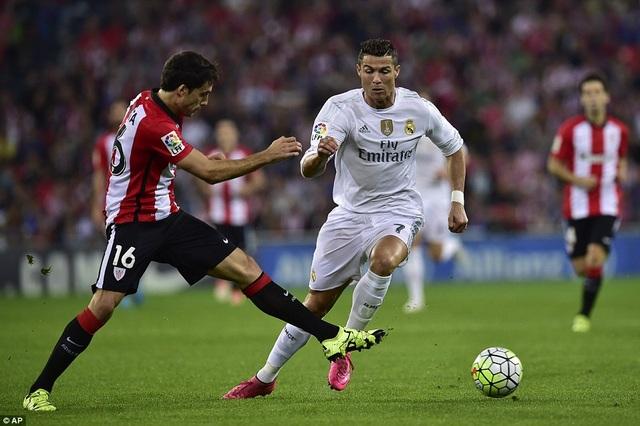 Hàng thủ Bilbao sẽ phải hết sức dè chừng C.Ronaldo