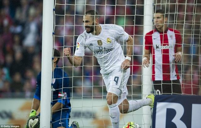 Benzema từng lập cú đúp ở trận đấu gần đây nhất với Bilbao
