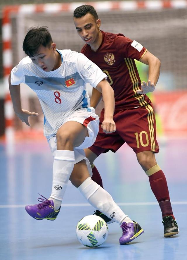 Các cầu thủ futsal Việt Nam đã thi đấu đầy cố gắng