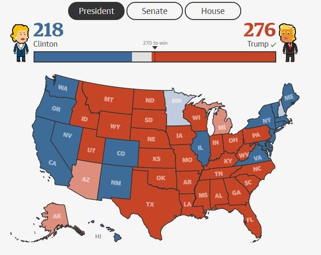 Ông Trump thắng áp đảo bà Clinton, đắc cử tổng thống Mỹ - 5