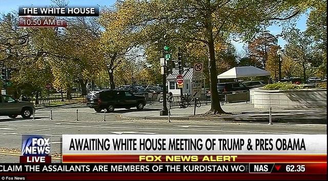 Trước đó, xe của Trump được nhìn thấy di chuyển trên đường phố thủ đô Washington. (Ảnh: Fox news)