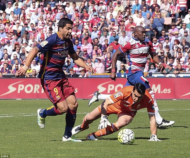 Luis Suarez từng lập hattrick ở trận đấu gần đây nhất với Granada