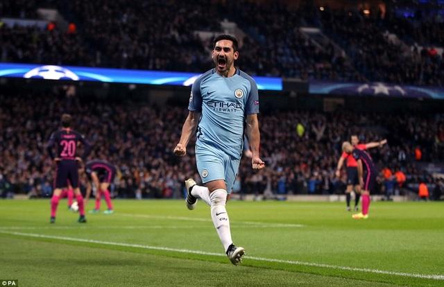 Man City thắng trận đấu tiên sau 6 lần đối đầu với Barcelona tại Champions League