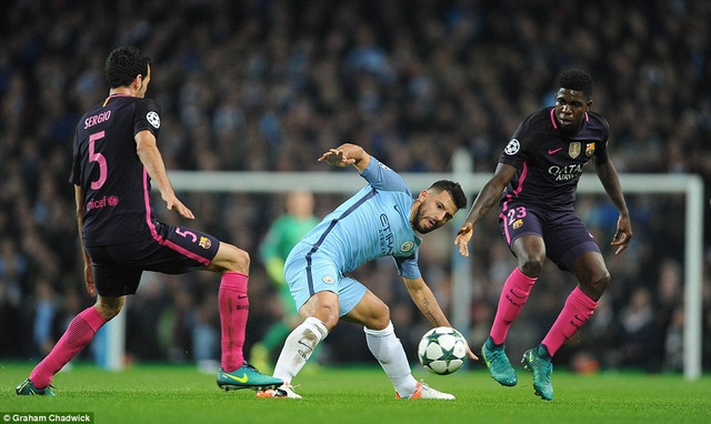 Aguero chơi khá hay, dù không ghi bàn