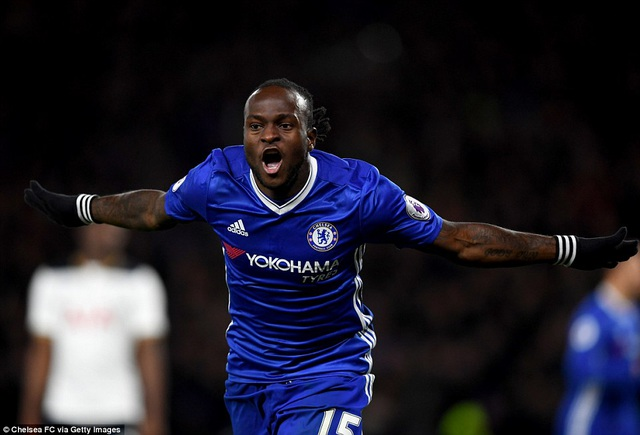 Moses đang thăng hoa mạnh mẽ dưới sự dẫn dắt của Conte